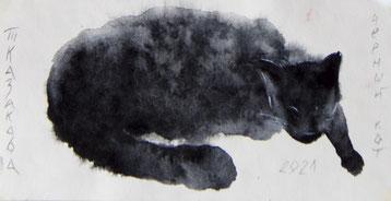 Татьяна Казакова. Чёрный кот. 2021