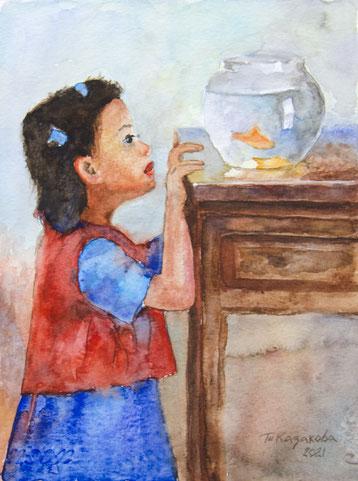 Татьяна Казакова. Рыбка золотая. 2021 год