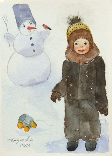 Татьяна Казакова. Снеговик. 2021