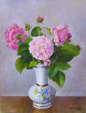 Татьяна Казакова. Розовый шиповник. 2021