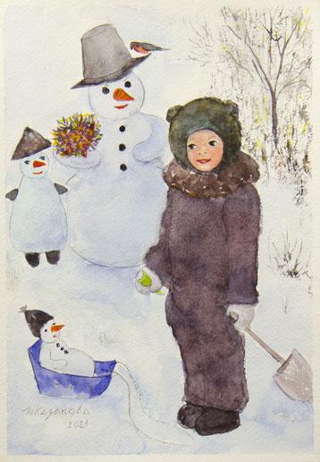 Татьяна Казакова. Весёлые Снеговики. 2021