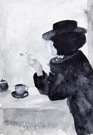 Татьяна Казакова. Чашка чая. 2021