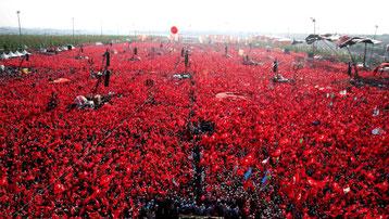 Pro Erdogan Demo Istanbul Türkei