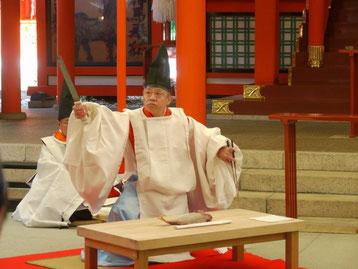 包丁式奉納の様子in生田神社
