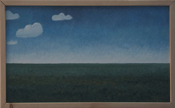 Bild:Pampa,Argentinien,Südamerika,Trilogie,Wolken,Stilistisch,Blau,Grün,d-t-b.ch,d-t-b,David Brandenberger,Biber,dave the beaver,Ölbild,Malerei,Ölfarbe,