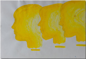 Bild:Drei,Profil,Schule,Wasserfarbe,Bleistift,David Brandenberger,d-t-b.ch,d-t-b,