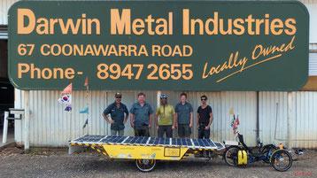 3rd Trailer of the Solatrike at Darwin, Australia