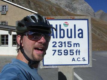 Bild:David Brandenberger,Velofahrt zum Albulapass.