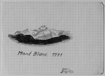 Bild:Mont Blanc,Berg,Schnee,Skizze,Bleistift,David Brandenberger,d-t-b.ch,d-t-b,