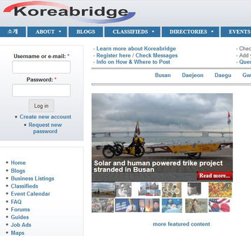 Article featured on the Home page of Koreabridge