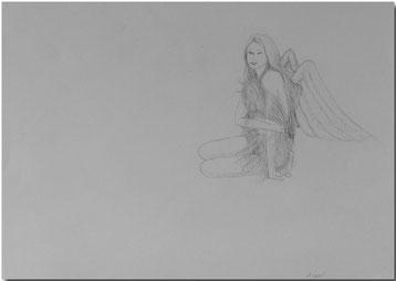 Bild:Angel,Engel,Bleistift,Akt,Frau,nude,David Brandenberger,d-t-b.ch,d-t-b,