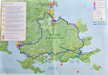 Karte mit eingezeichneten Wegstrecken
