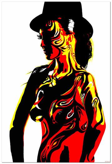 Bild:Digital Art,David Brandenberger,d-t-b,d-t-b.ch,0004,Frau,Bodypaint,Akt,nude,