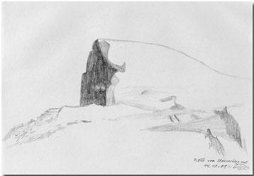 Bild:Titlis,Stanserhorn,Schnee,Fels,Skizze,Bleistift,David Brandenberger,d-t-b.ch,d-t-b,
