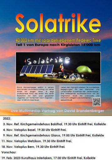 Vortrags Plakat Solatrike Vortrag Teil 1