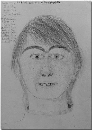 Bild:Spiegelbild,Portrait,Schule,Bleistift,Zeichnung,David Brandenberger,d-t-b.ch,d-t-b,