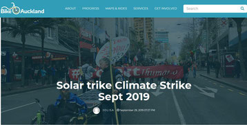 Solatrike at Climate Strike in Auckland, NZ