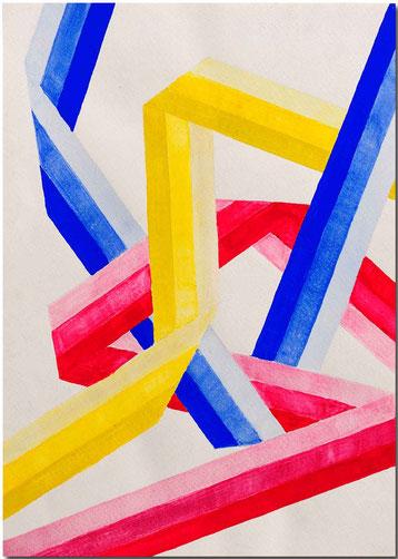 Bild:Farbig,Bänder,Wasserfarbe,Schule,David Brandenberger,d-t-b.ch,d-t-b,