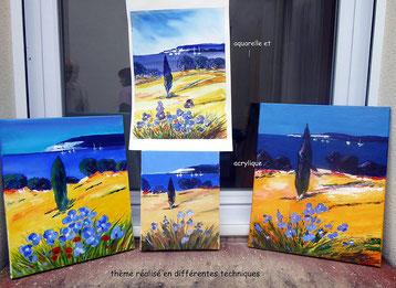 Atelier peinture artistique du 07 avril 2016
