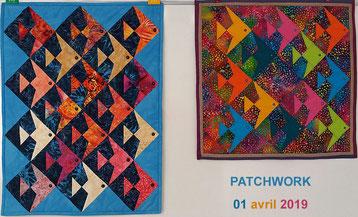 Atelier patchwork du 1er avril 2019