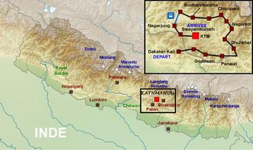 Kathmandu map - Plan de Kathmandu - carte Kathmandu