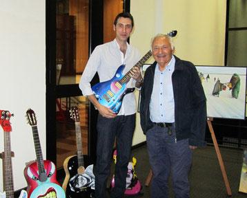 Io e il grande Mogol,duranete la mia personale all'Università della Calabria,Rende, Giugno 2012.