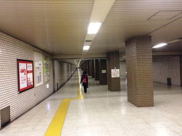 東豊線北側から札幌北口へ続く地下通路