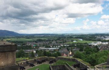 写真10 スターリング城から眺めた景観