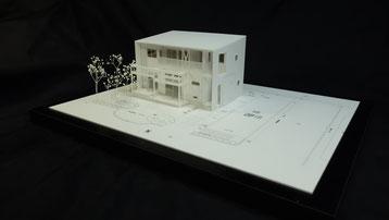1/100簡易分解型の住宅模型画像