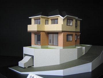 1/50色付分解型の住宅模型