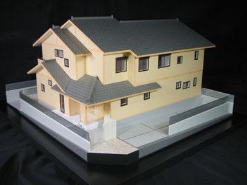 外構付き和風の住宅模型