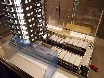 マンション模型の外部階段部分