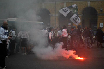 La festa prosegue in Piazza Dante