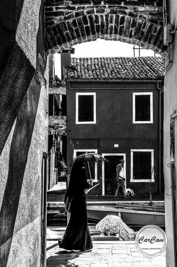 Venise, murano, noir et blanc, black and white, street photography, CarCam, travel, art