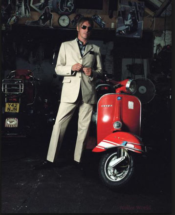 大好きなpaul wellerのvespa