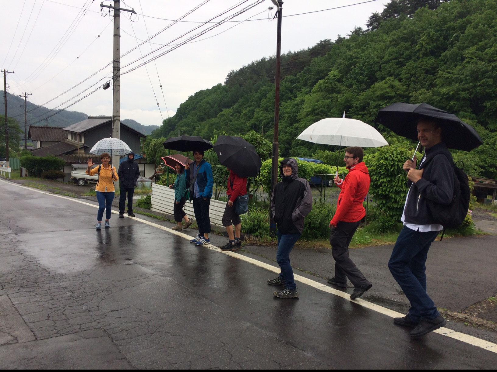 Spaziergang bei leichtem Regen