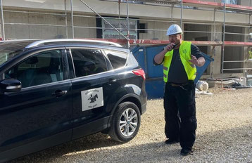 Baustellenbewachung mit unserem Wachdienst