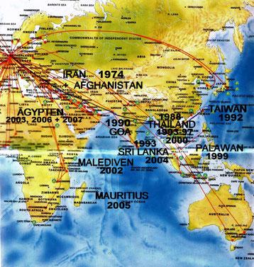 meine dreizehn Asien- und vier Afrika-Reisen von 1974 - 2007