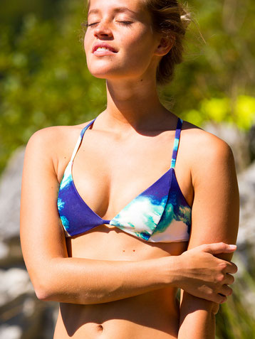 Pink River reversible bikini top by Alpikini