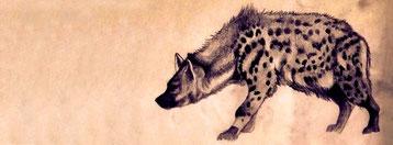 hyene toile peinture Perrine Crosmary