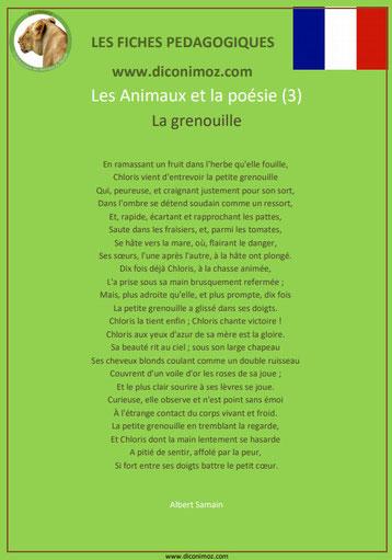 fiche pedagogique pdf poesie animaux la grenouille