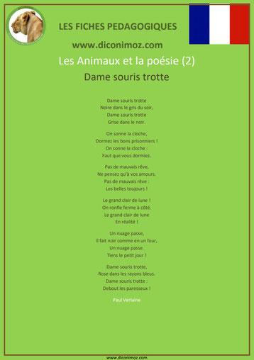 fiche pedagogique pdf poesie animaux dame souris trotte