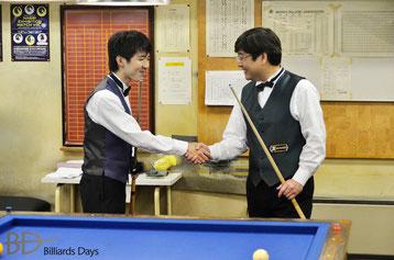 父・森陽一郎(右)と対戦。2013ナビー・エキシビション