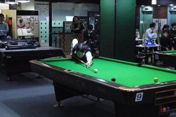 山形大学の冨永選手。大会の紅一点