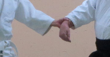 ②広義の陰で母指先は地に他指は揃って丹田に巡る