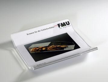 Tablette dépose monnaie avec insert 9411010, FMU GmbH, Tablettes dépose monnaie et présentoirs