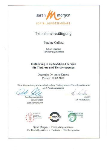 Sanum-Therapie, Nadine Gallatz, Natürlich fürs Tier, Tierheilpraktiker, Isopathie