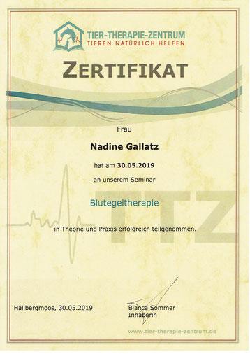 Blutegeltherapie, Nadine Gallatz, Natürlich fürs Tier