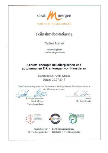Sanum-Therapie, Nadine Gallatz, Natürlich fürs Tier, Tierheilpraktiker, Isopathie, Allergie, Autoimmunkrankheit