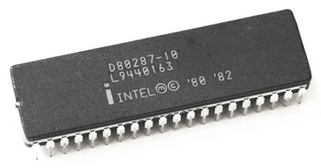 Intel D80287-10 Side View